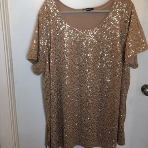 Sequined gold top
